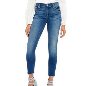 7 for all mankind ankle skinny jeans - size 30
